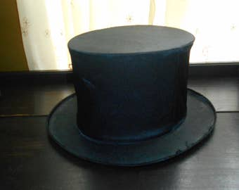 Vintage Mens Silk Collapsible Tophat