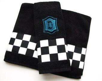Black Bath Towels Custom Towels Black Bathroom Black