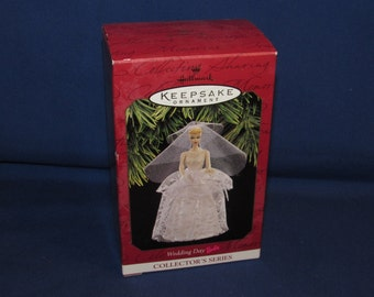 WEDDING DAY BARBIE Ornament 1997 Hallmark Keepsake