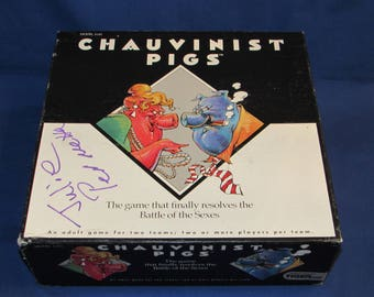 CHAUVINIST PIGS Game 1991 Tiger Board Game