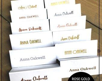Wedding Place Cards - Personalised \ Customised - Gold / Silver or Rose Gold foil - | Font Choice