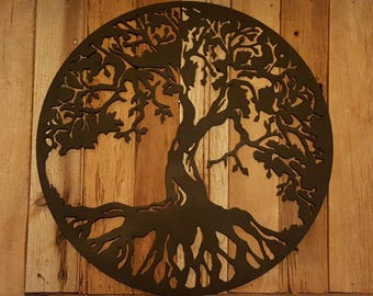 Tree Of Life Metal Wall Art Hanging Home Decor Rustic Primitive 14 Part 37