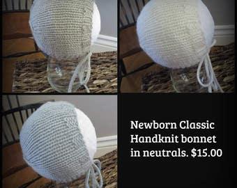 Hand Knit Bonnet