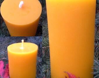 Smooth Pillar Beeswax Candle