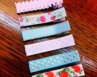 Lined Hair Clips