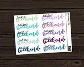 Planner Weekend Banner Stickers Weekend Stickers Flag  Stickers Planner Stickers Die Cut Stickers B003