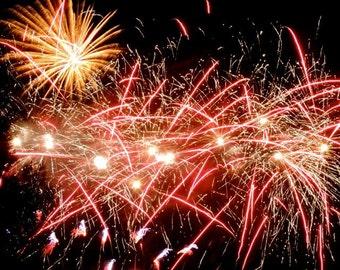 Firework Photograph - New York Fireworks - Abstract Art - Wall Decor - Firework Art - Cheerful Sky - New York Joyful Holiday - Holiday Night