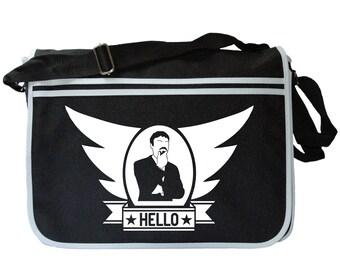 Ashens Retro Sonic HELLO Black Messenger Shoulder Bag
