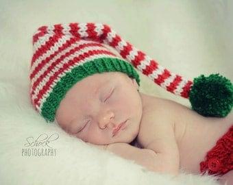 Elf Baby Hat • Elf Newborn Hat • Elf Stocking Hat • Baby's 1st Christmas • Christmas Baby Hat • Christmas Newborn Hat • Baby Christmas Gift