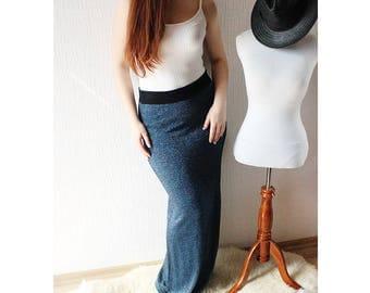 NAVY BLUE skirt ~ Maxi blue skirt ~ Warm skirt ~ Navy long skirt ~ Long skirt ~Nautical skirt ~ Fall skirt ~ Fall maxi skirt ~ Winter skirt