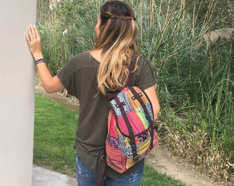 50% OFF Patchwork Backpack Upcycled - Thailand (098P)