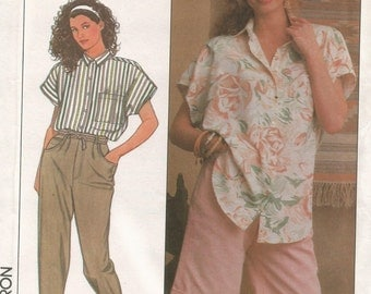 9234 Simplicity Sewing Pattern Pants Shorts Shirt Size 4 6 8 10 Vintage 1980s