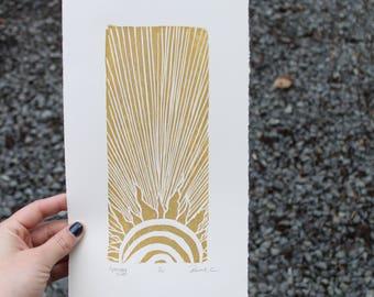 Golden Sun and Bronze Sun Prints