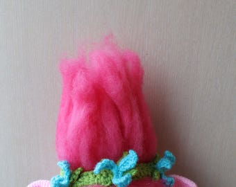 Crochet Pattern For Troll Hat : Poppy trolls crochet wig hat poppy hat poppy trolls costume