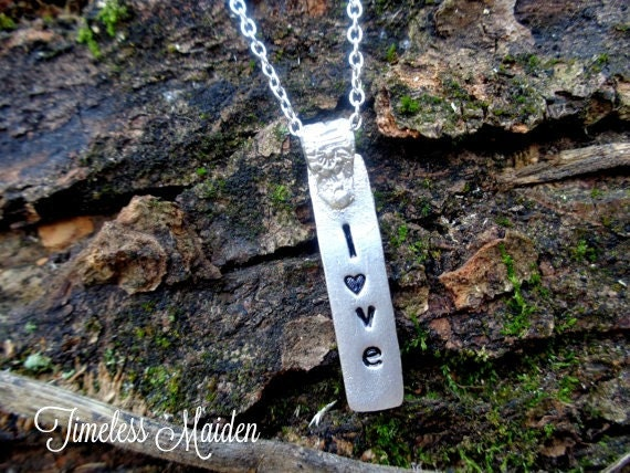 Gift For Her, Personalized Sterling Silver Message Necklace, Inspirational, Name Jewelry, Graduation Gift