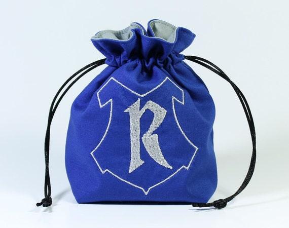 SALE Raven Wizard House Drawstring Bag, Dice Bag