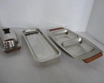 Retro Chrome & Wood Kitchen  Set