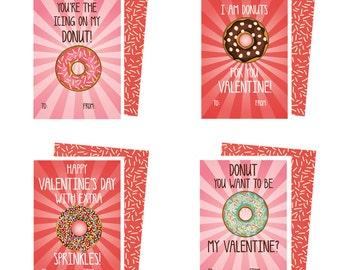Instant Download Printable Donut Valentines