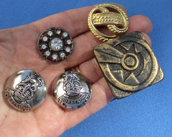 Lot Of Vintage Metal Plastic Rhinestone Buttons