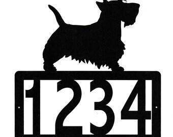 Scottish Terrier Address Metal Sign