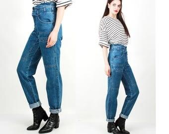 Vintage Jeans / Extra High Waist Jeans / Cargo Jeans / Boyfriend Jeans