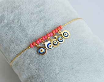 Evil Eye Bracelet - Evil Eye jewelry - Protection Charm - Turkish Evil Eye - Protection Bracelet - Evil Eye Jewelry - Lucky