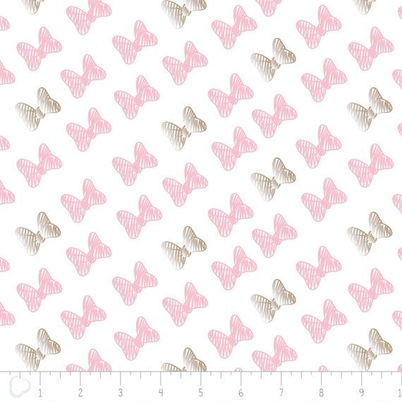 Minnie Mouse Bows Fabric By Camelot 85270204 3 Pink Bows