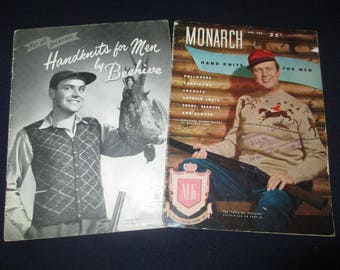 2 hand knit catalogs for men