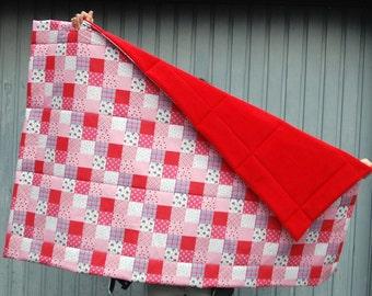 Red baby blanket / baby blanket