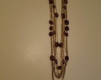 Reduced  reduced Super chunky multi strand runway Hobe necklace