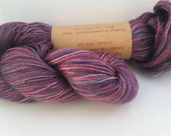 Lavender Bouquet - hand painted lace weight silk yarn