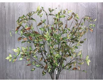 "31"" Nandina Leaf Spray, Green/Pink, 6 stems per order"