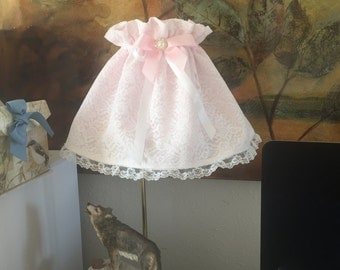 SALE Shabby chic lamp shade, lace shade.