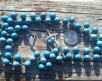 Catholic Rosary Turquoise Beads