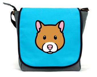 Hamster Bag | Blue, Pink and Grey | Waterproof Canvas