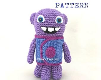 CROCHET PATTERN - Home Movie OH Dreamworks Crochet Amigurumi doll - pdf only