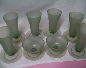 Tupperware Dessert Cups Smoke Grey Retro Set of 8