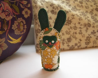 Little Bunny Fabric Decoration - Floral and Green