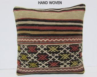 kilim pillow cover hippie bohemian pillow multicolor boho pillow woven kilim rug natural sofa pillow euro kilim cushion red pillows D2444