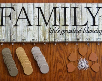 Old Time Wood Look Family Blessing Birthday Board Kit
