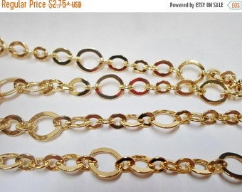 Gold Steampunk Chain, Findings for Jewelry and Crafts, Supplies,