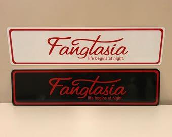 Fangtasia - life begins at night aluminum street sign True Blood