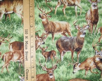 Deer Cotton Fabric! 3 Options! [Choose Your Cut Size]