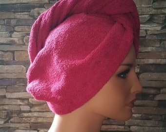 Turban- Hair towel wrap, Bath/SPA/Sauna accessories -  fuchsia