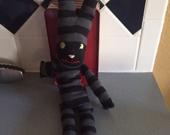 Monster sock bunny - too cute to be scary!