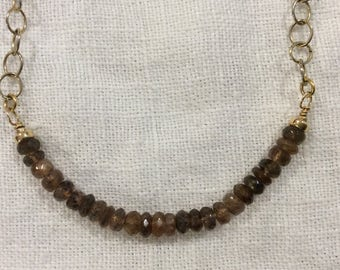Alluring Andalusite on a Wire Necklace
