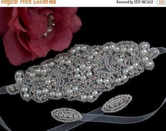Bridal Bracelet - Wedding Bracelet - Rhinestone Bracelet - Bridal Beaded Crystal Bracelet - Bridal Wedding Jewelry - Beaded Crystal Brace
