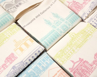 Museums and Galleries in London Tea Towel