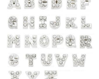 A-Z Floating Locket Charms Letters