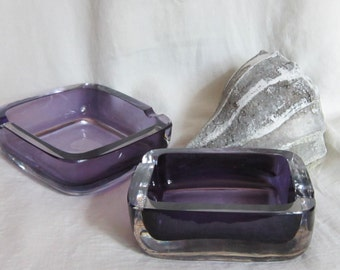 Vintage Art Glass Ashtrays